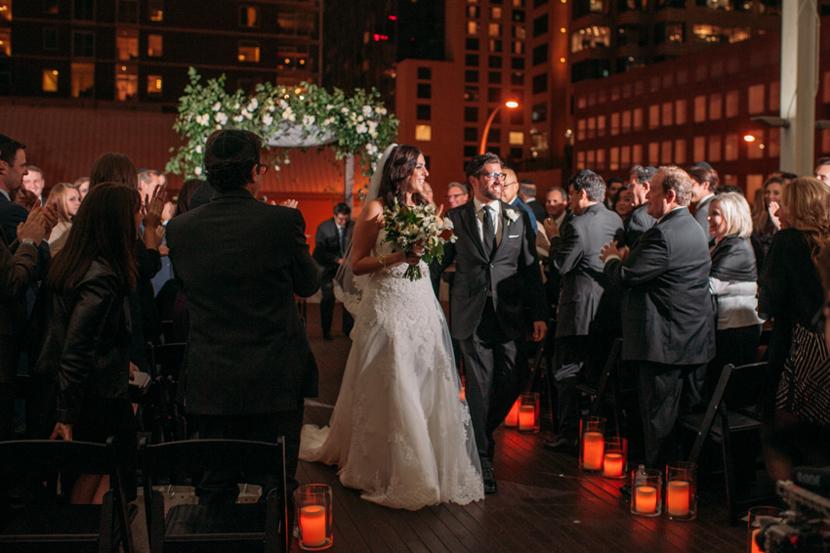 austin weddings at night