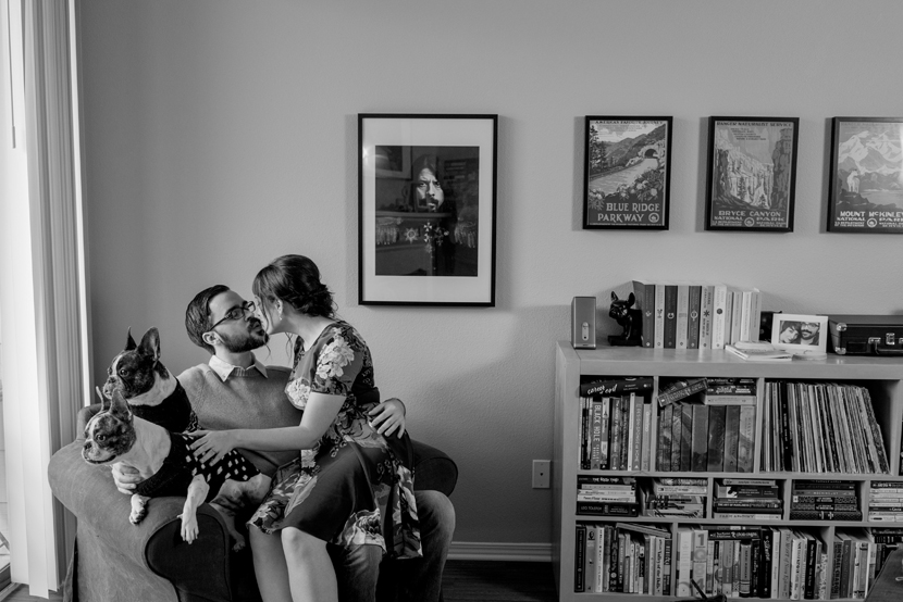 taking engagement pictures in your house