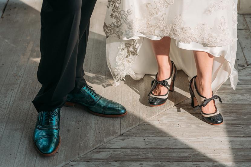 fluevog wedding shoes bride and groom