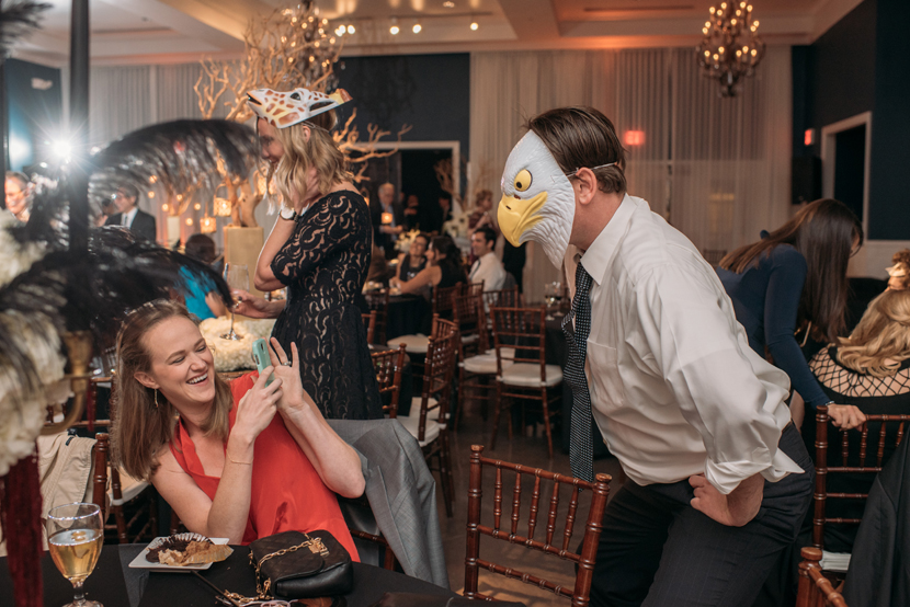 using animal masks in your wedding