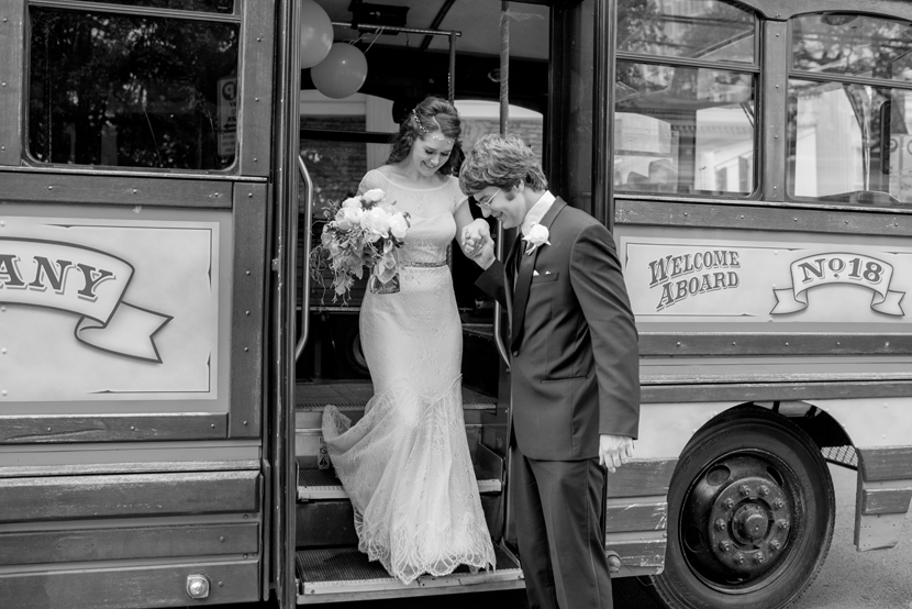 trolley as wedding limo