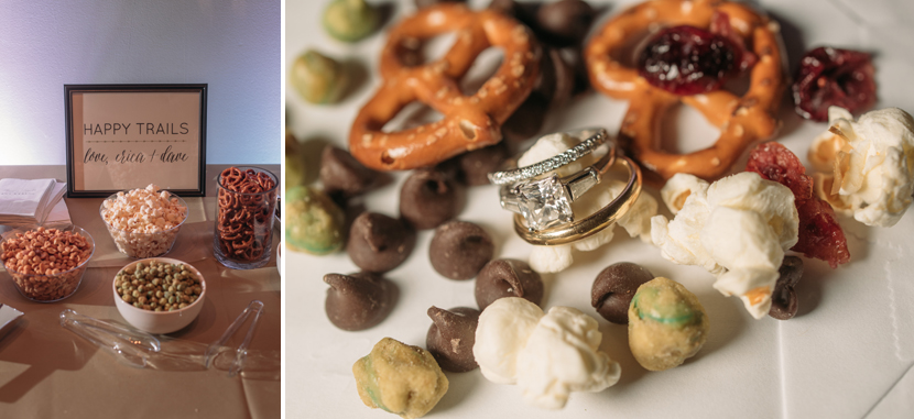 trail mix as wedding favors
