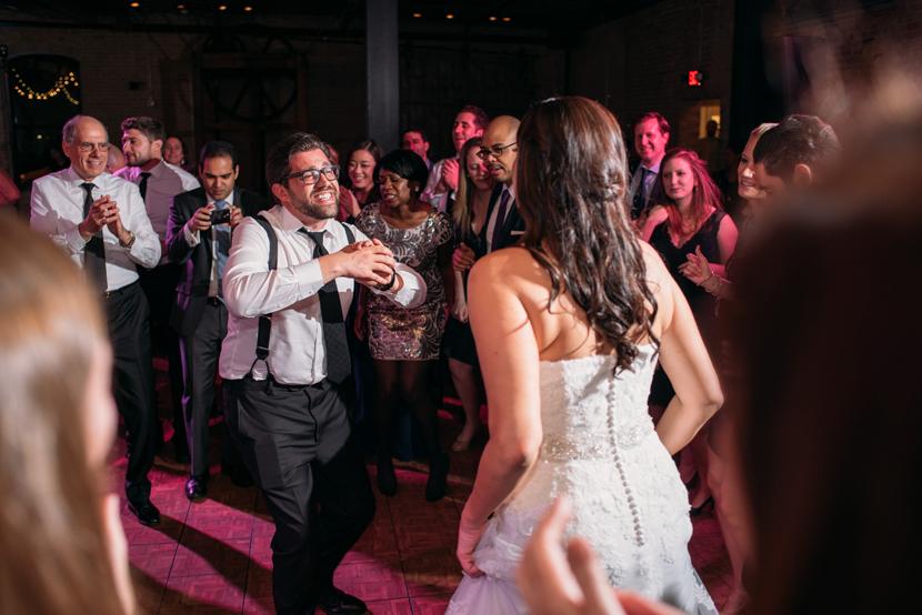 dance party wedding reception