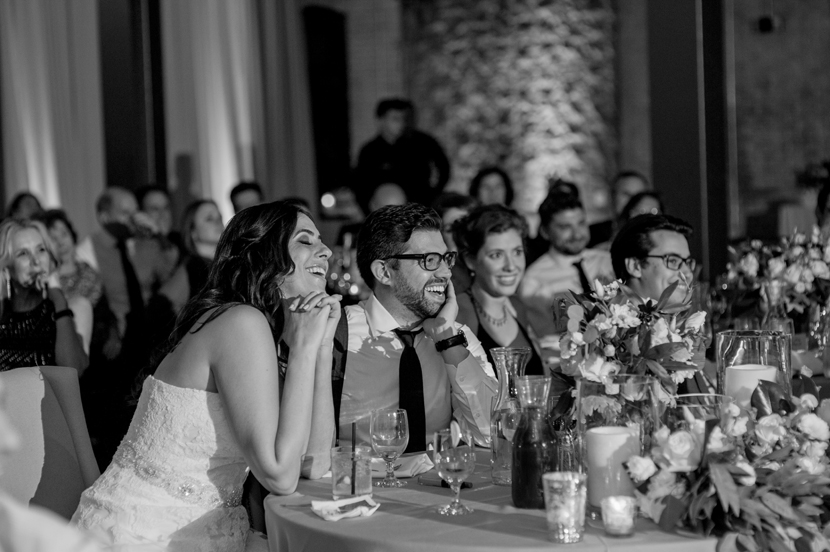 emotional couple during speeches