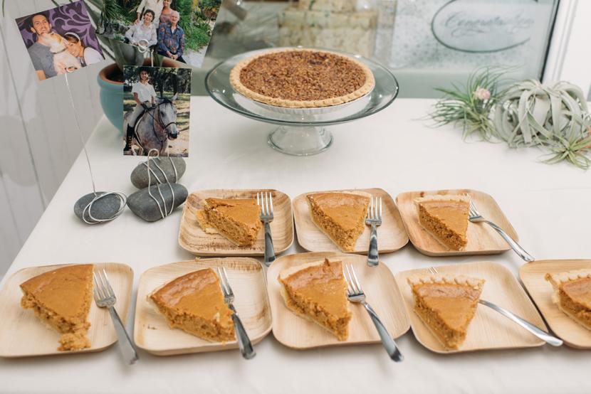 pie at weddings