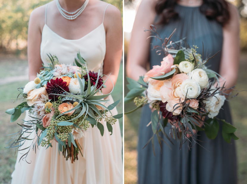 gypsy floral bouquets at mercury hall wedding