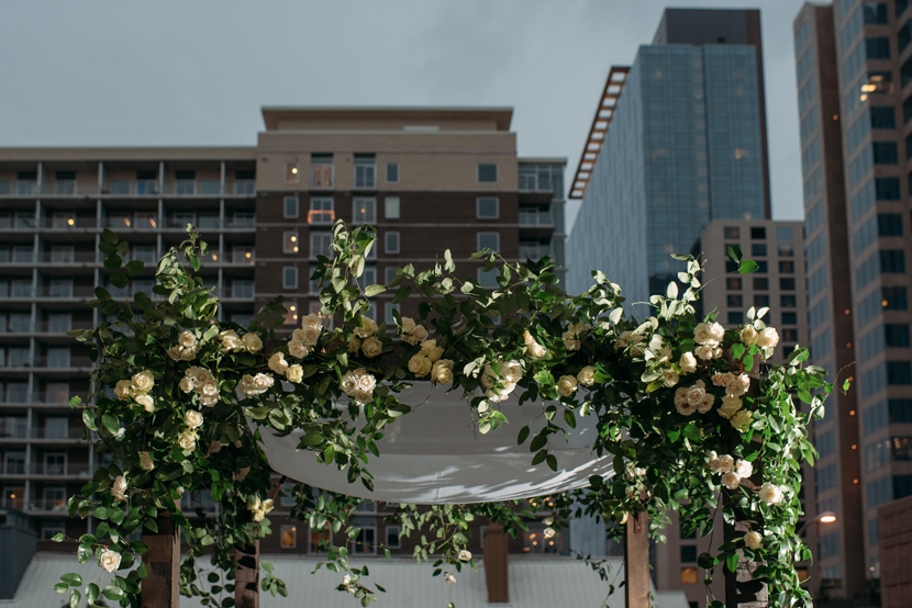 floral chuppah canopy