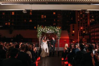 rooftop austin wedding ceremony