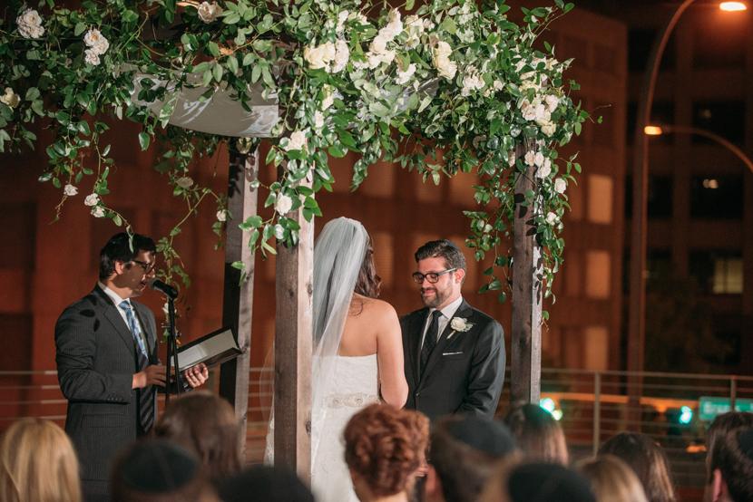 rooftop wedding ceremony