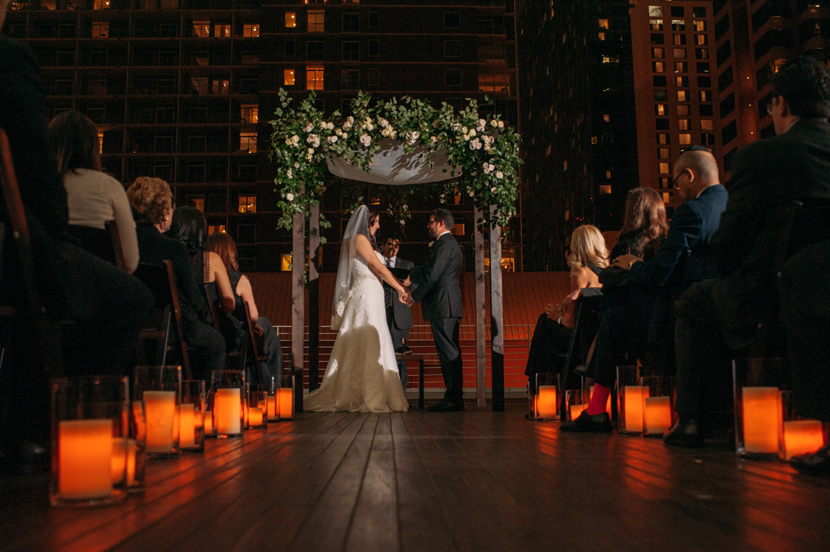 after dark wedding ceremony