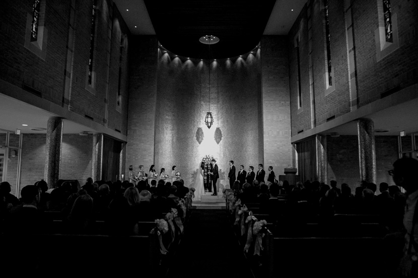 wedding ceremony at cohen chapel