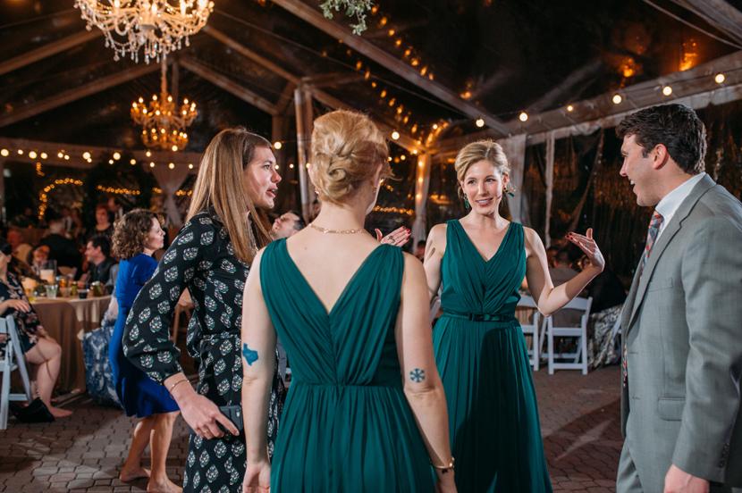 allan house outdoor winter wedding