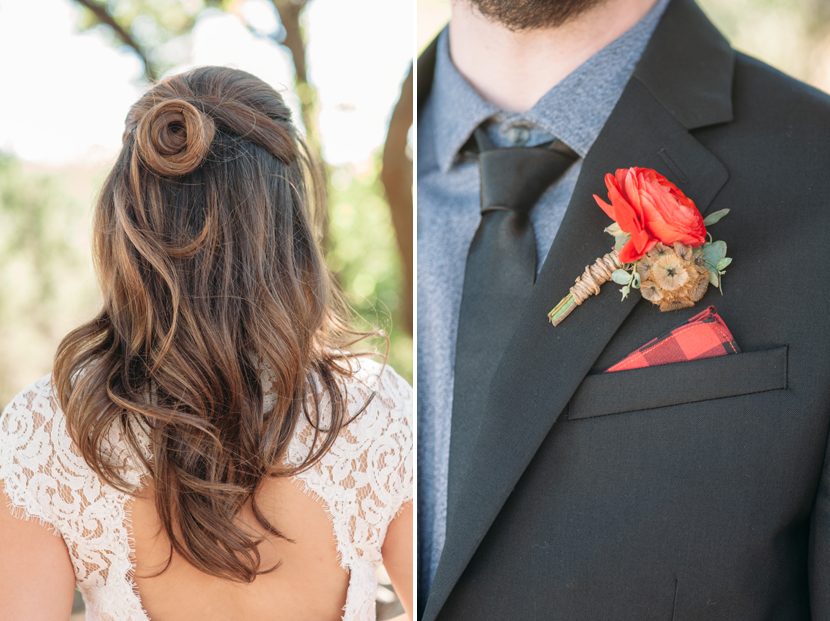 pretty half-dos for wedding hair