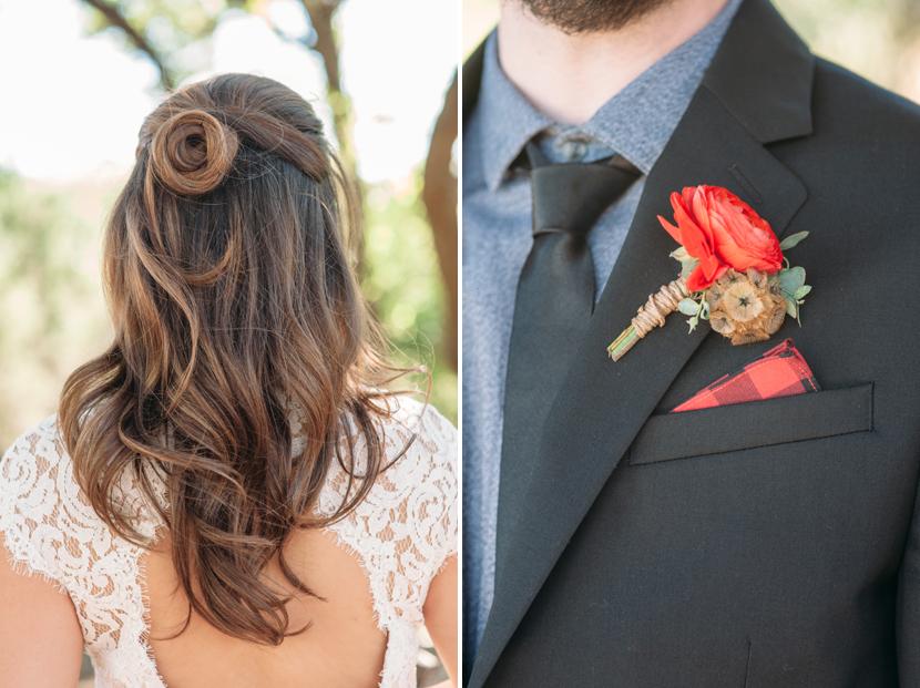 pretty half-dos for wedding hair