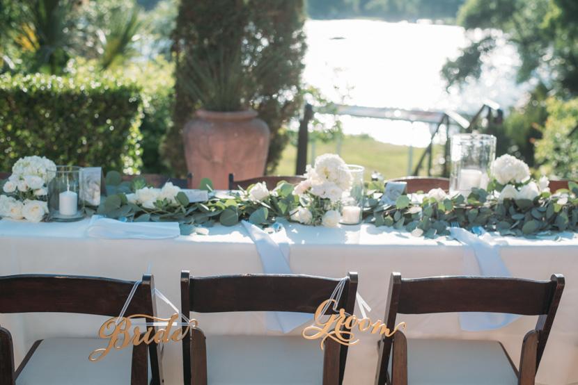 long reception table garlands