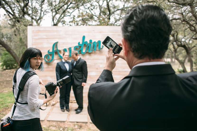 getting the shot austin wedding photographer