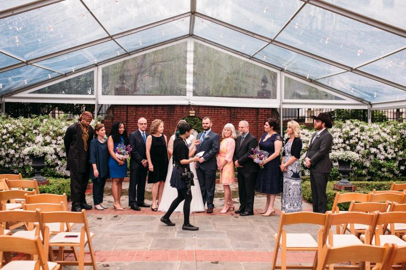 instructing wedding party austin wedding photographer