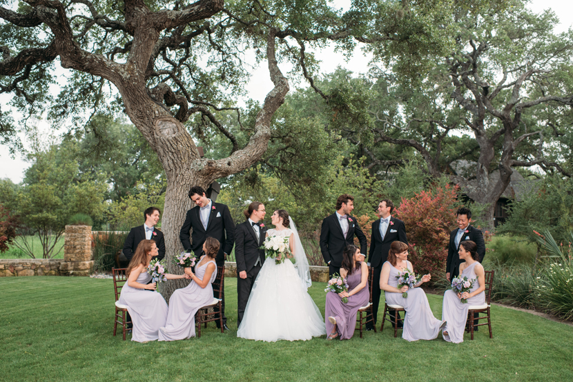 vogue styled wedding party