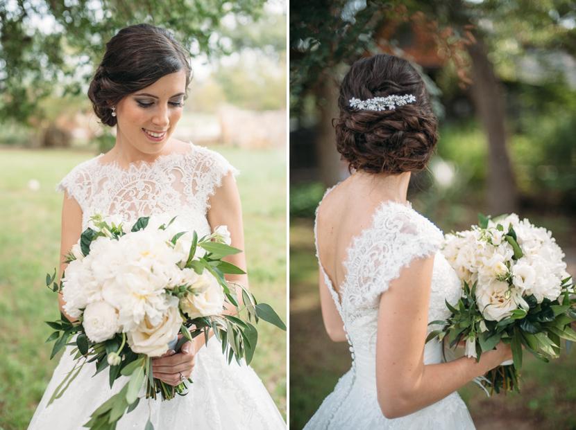 modern classic bridal look