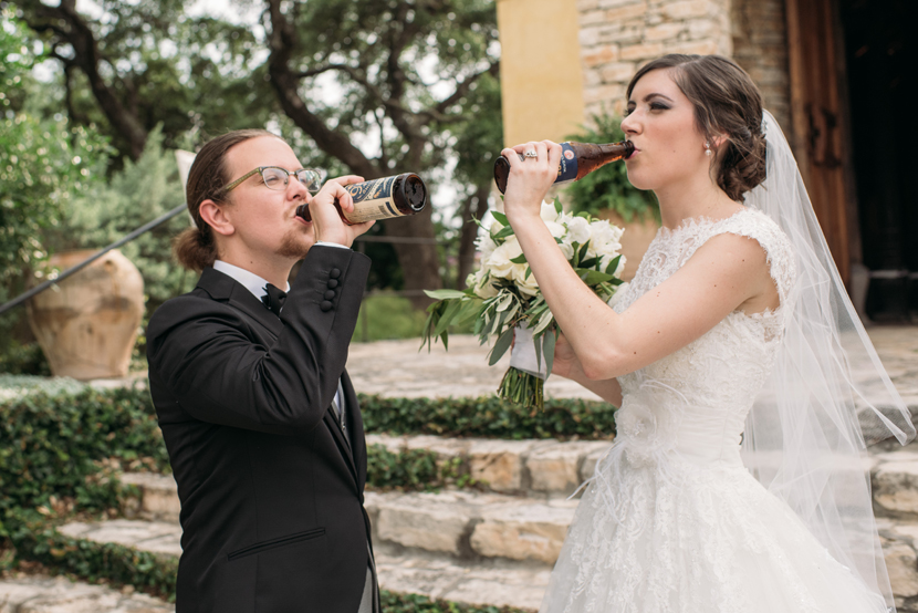 drinking your favorite beer on your wedding day