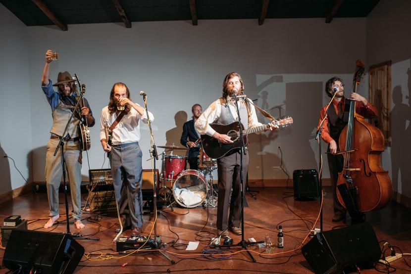 von stomper band performing at wedding