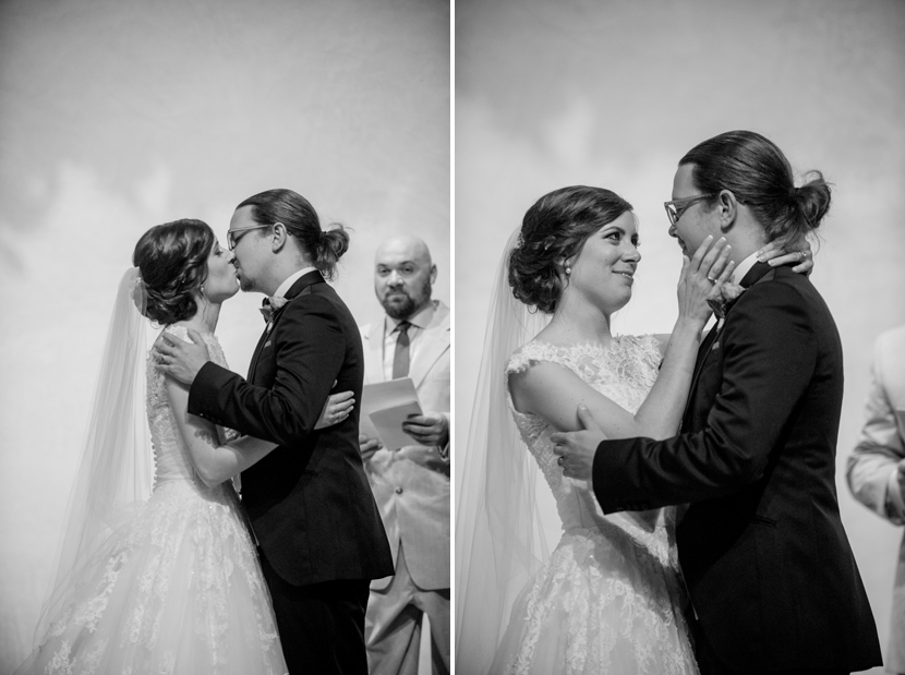 ceremony kiss in ians chapel