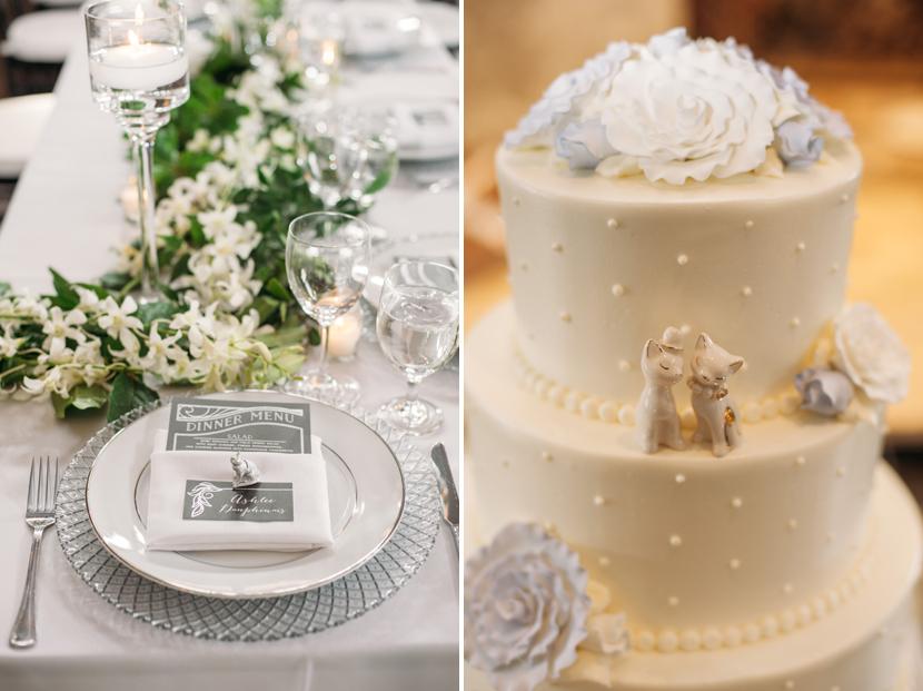 cat people wedding cake