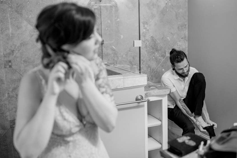 An Austin Elopement with an Offbeat, Tattooed Couple