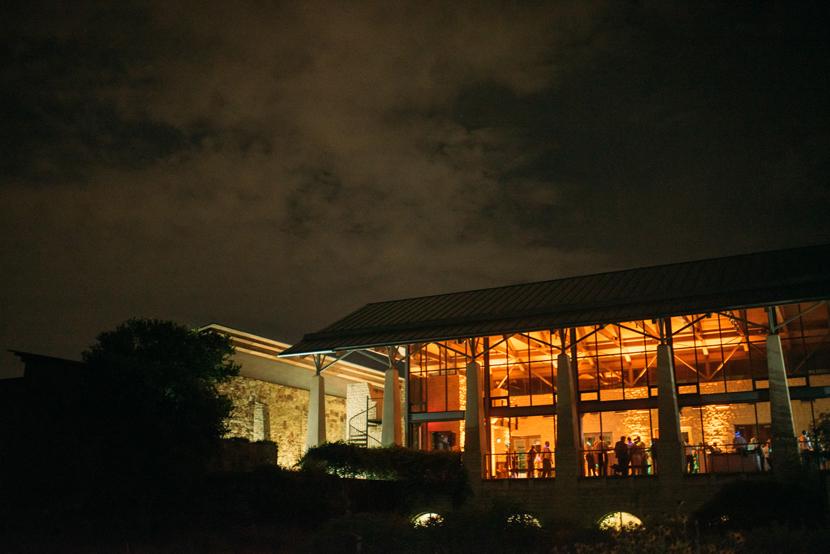 wildflower center at night