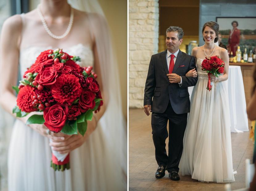 indoor summer wedding in texas