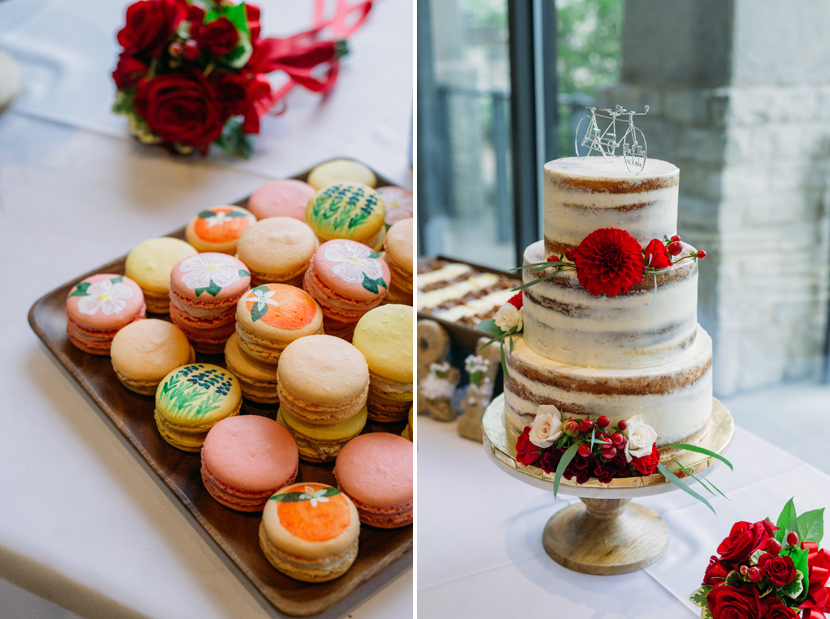 colorful wedding macarons