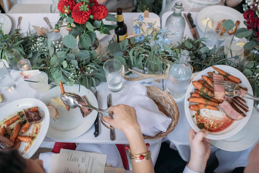 wedding dinner served family style