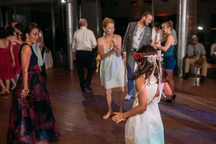 fun reception dancing