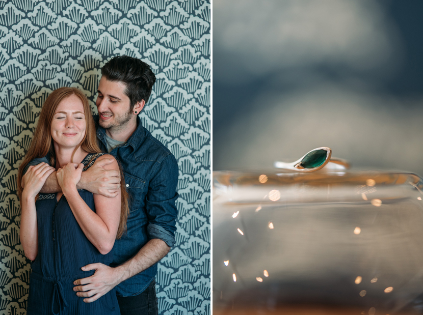sushi restaurant engagement session pictures