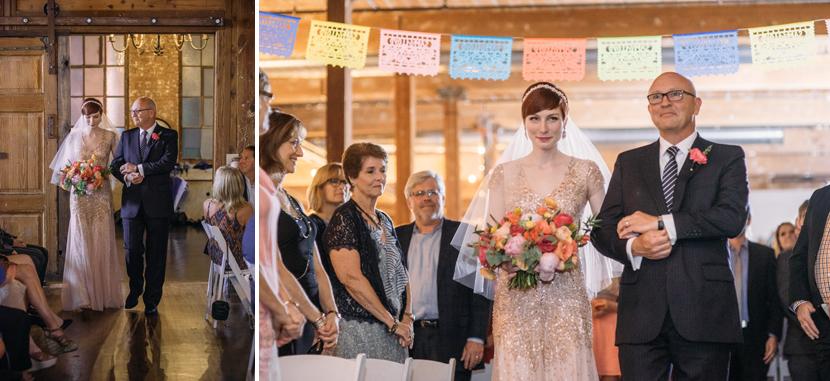 warehouse wedding ceremony