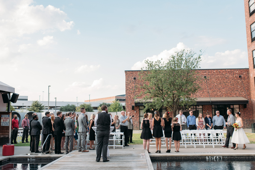 poolside ceremony at nylo hotel