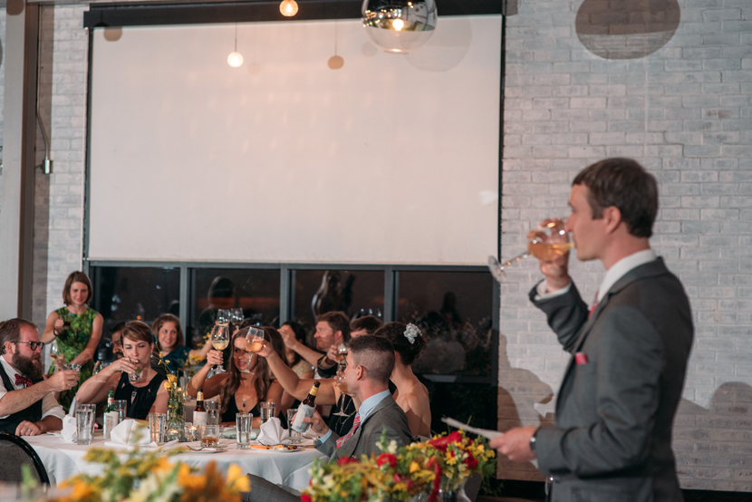best man toasts the couple