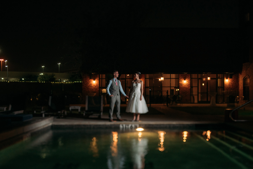 poolside wedding