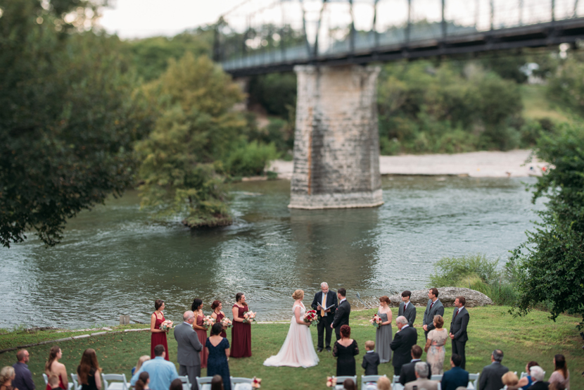 ceremony by the river in texas