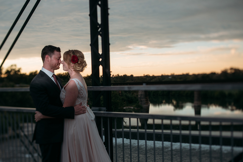 creatively lit wedding portraits