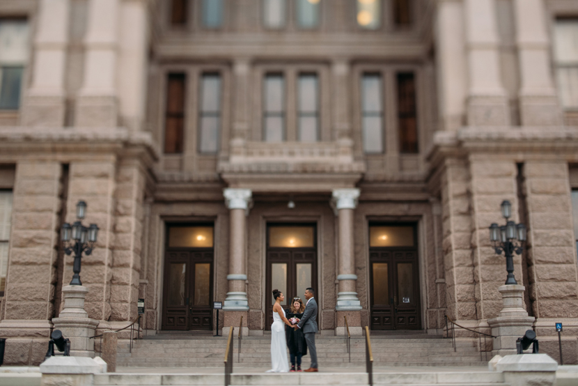 tiny wedding at austin capitol