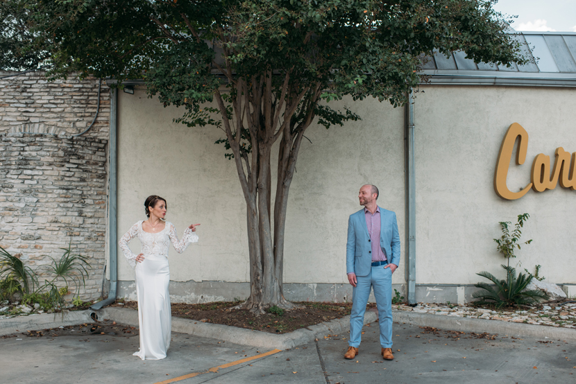 fun wedding portraits in austin