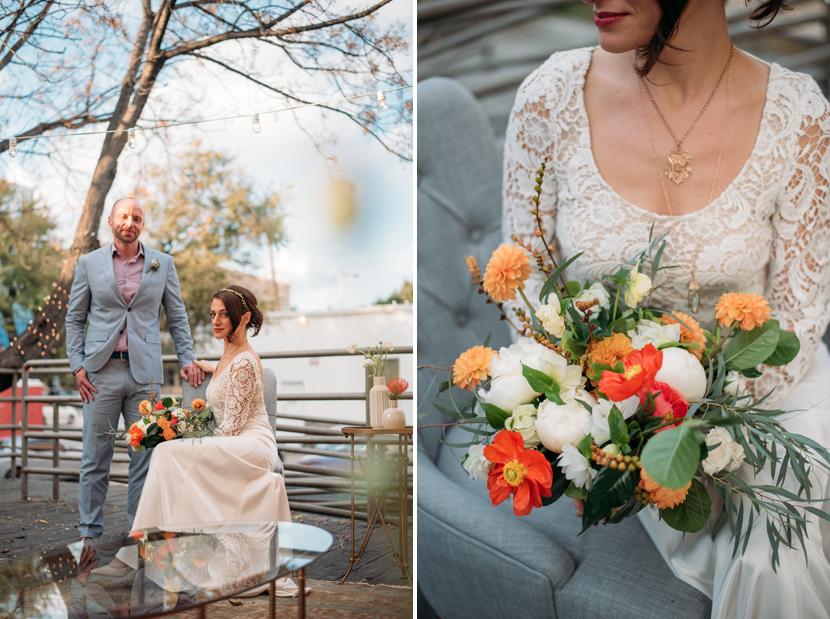 editorial wedding look