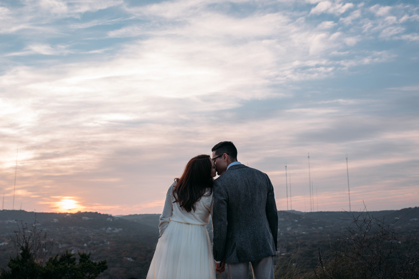 sunset on mount bonnell