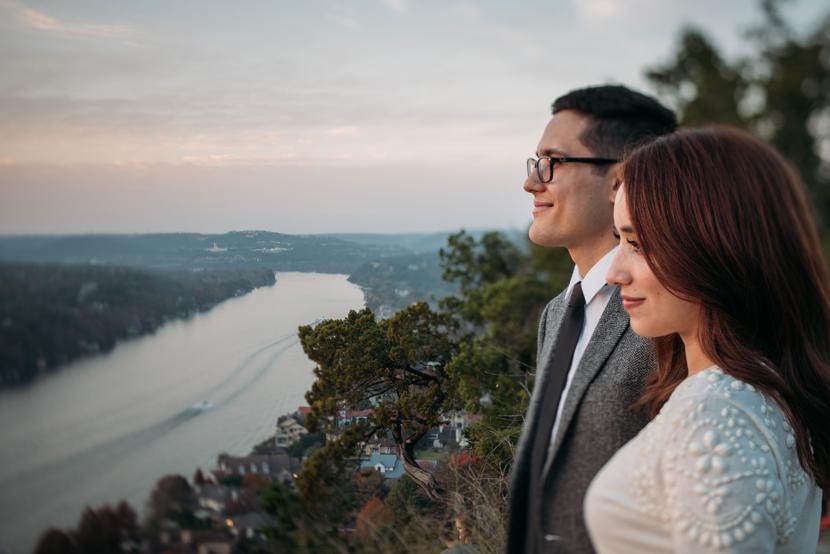 sunset austin elopement pictures