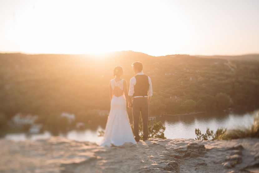 sunset wedding austin