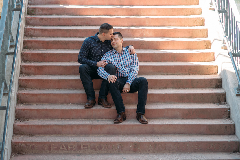 same sex engagement session in austin