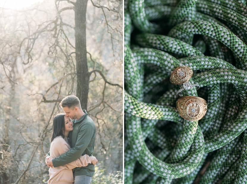 rock climber engagement pictures