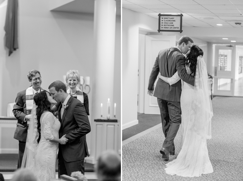 first kiss wedding moment