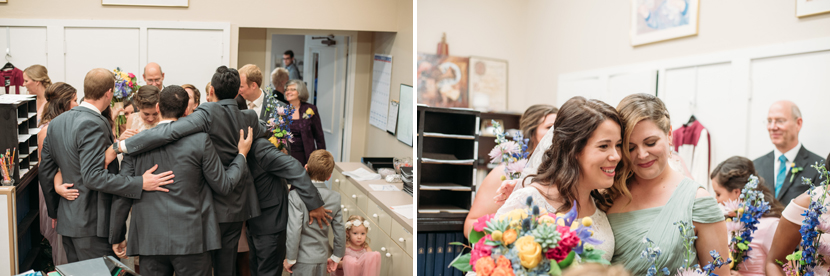 emotional post-ceremony moments